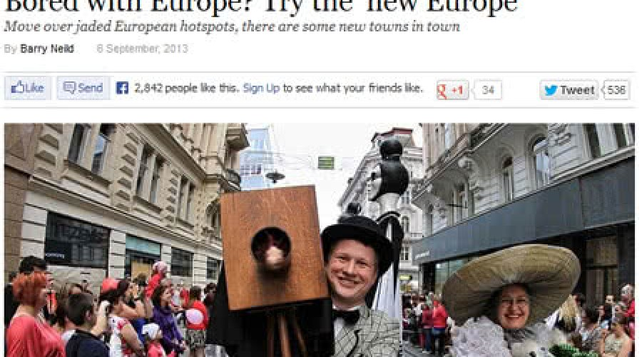 Articolo CNN Travel su Bologna: Annoiato con l'Europa? Prova la 'nuova Europa'